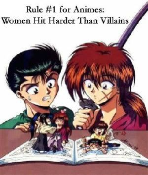 I think this is safe to say about almost all cartoons and anime yu yu hakusho/ rurouni kenshin