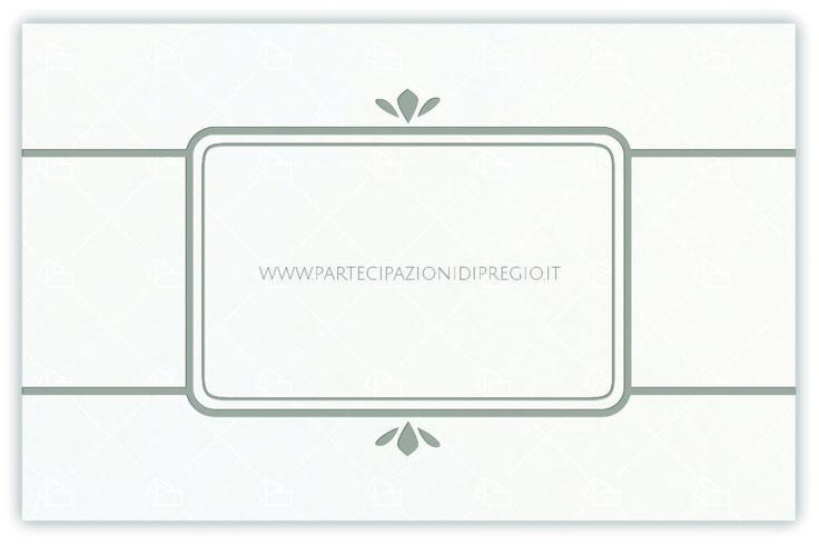 partecipazione di matrimonio - dimensione: 17 x 11 - forma: rettangolare - carta: Gmund Cotton - Max White - 300, 600, 900 gr. - linea: Cornici interne con linee e fregi - modello: alessia - lavorazione press: cornici e fregi