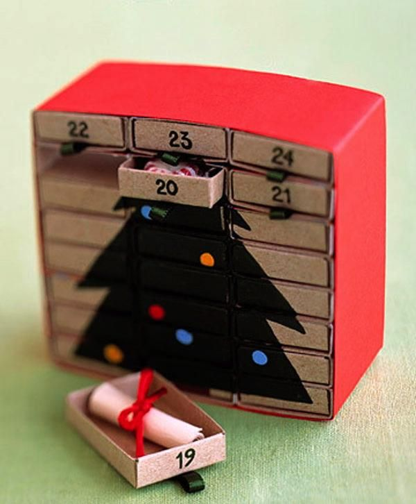 Адвент-календари своими руками - идеи для вдохновения + мои <u>как из бумаги сделать подарок для подруги своими руками</u> 5 копеек ;) - Ярмарка Мастеров - ручная работа, handmade