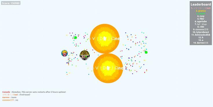 136980 nickname oᐯiᗪijᗩnet agariohit.com game score - Player: oᐯiᗪijᗩnet / Score: 136980
