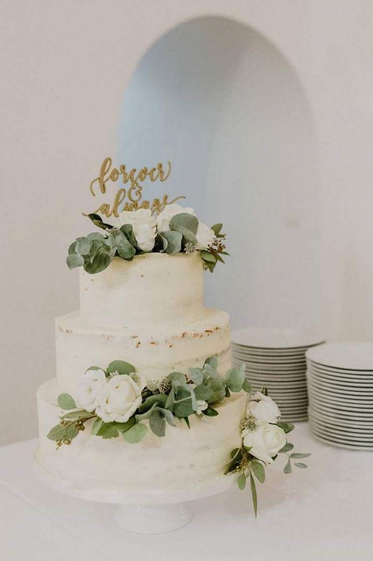 Halbnackte Hochzeitstorte mit frischen Blumen – Birgit Syrch-Moser – Google+   – Hochzeit