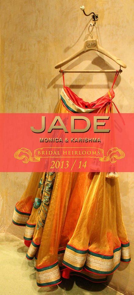 Stunningly Simple.. this Asymmetrical JADE Peacock Lehenga is your Claim to Fame!  #JADEbyMK #Wedding #India