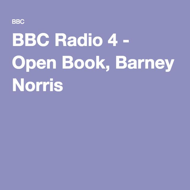 BBC Radio 4 - Open Book, Barney Norris