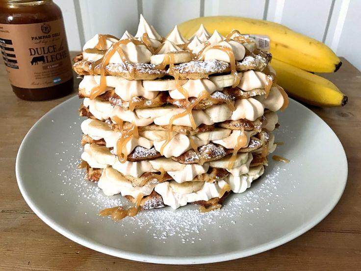 Glutenfria bananvåfflor