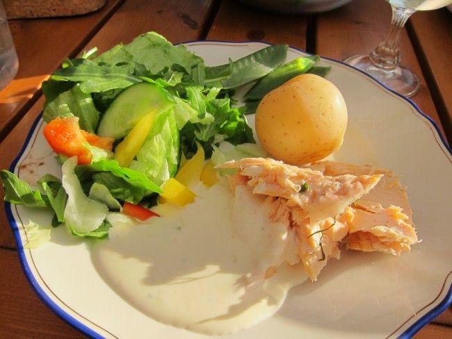 Hel öring i ugn med godaste citronsåsen :)