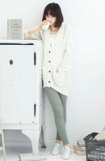 Grey white sweater