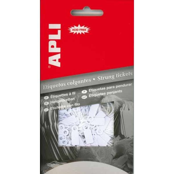 Comprar Etiquetas Blancas Colgantes con Hilo 18 x 29 mm Apli 00389 #colgantes #manuales #business #negocio #presentación #etiquetas #blancas #material #creacion #creatividad #empresa #comercio #comercial