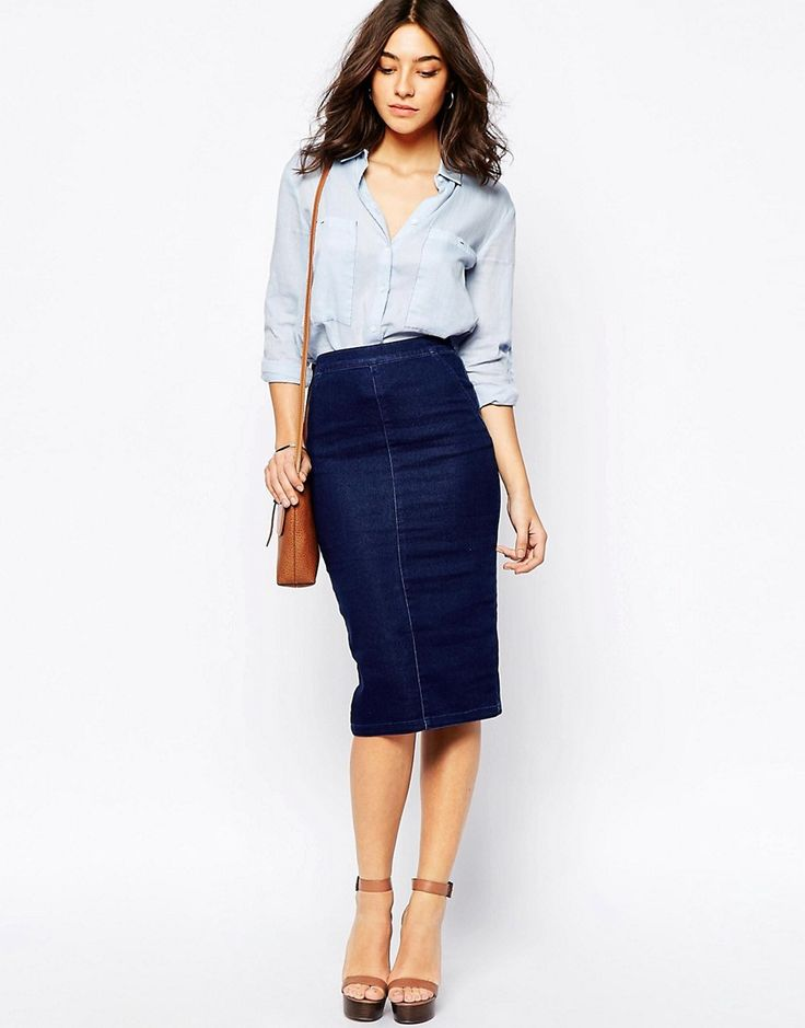 Pencil Skirt Denim | Fashion Skirts