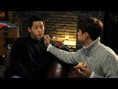 161118 송중기 박보검 Song Joong Ki Park Bo Gum Domino's Pizza Behind the scenes & CF 宋仲基 朴宝剑 - YouTube