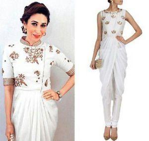 $165 Indian Bollywood Replica Party Wear Designer Outfit Highend Designer Drape Dress
