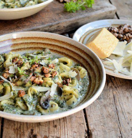 # RECEPT - romige tortellini, Mushroom en Spinazie Soep | MBSIB: The Man With The Golden Tang | Scoop.it
