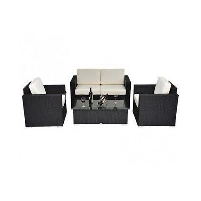 Outdoor Patio Furniture Set Rattan Wicker Sofa Sectional Loveseat Table Chairs