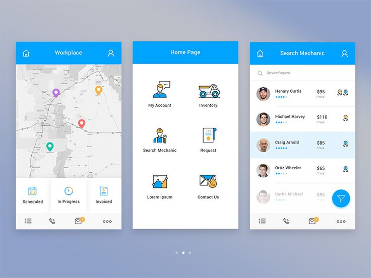 Hi guys, Working on mobile app design for construction and industrial equipment management space.