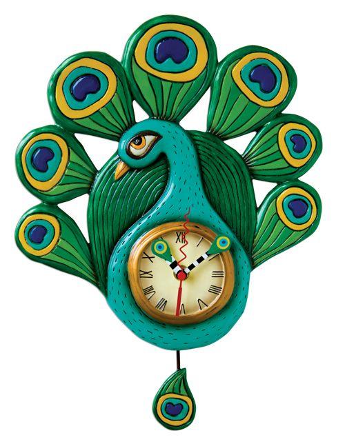 Peacock Clock by Allen Designs... SO pretty!