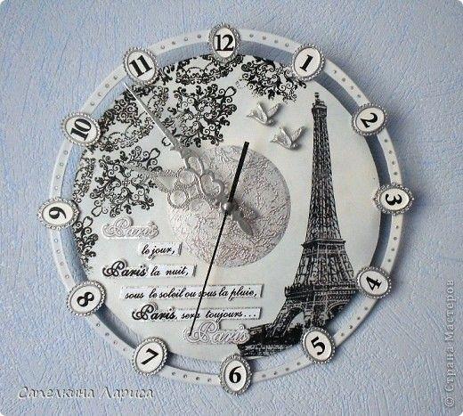 """""""С мечтами о Париже"""" часы."""