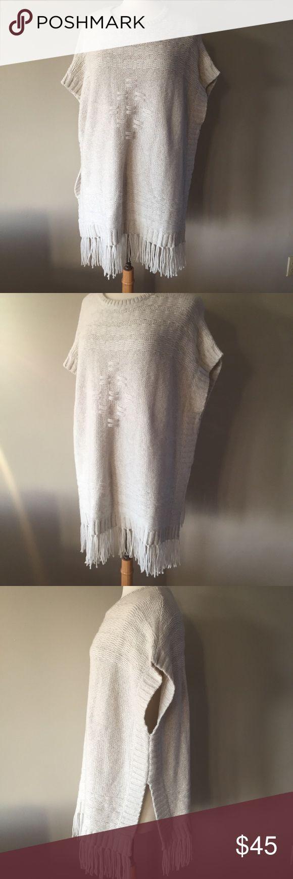 Velvet By Graham & Spencer Cream Fringe Sweater Velvet by Graham & Spencer Soft cream fringe Sweater. Size large. Great condition. Velvet by Graham & Spencer Sweaters