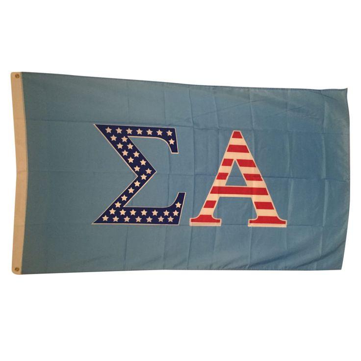 Sigma Alpha USA Flag Greek Gallery