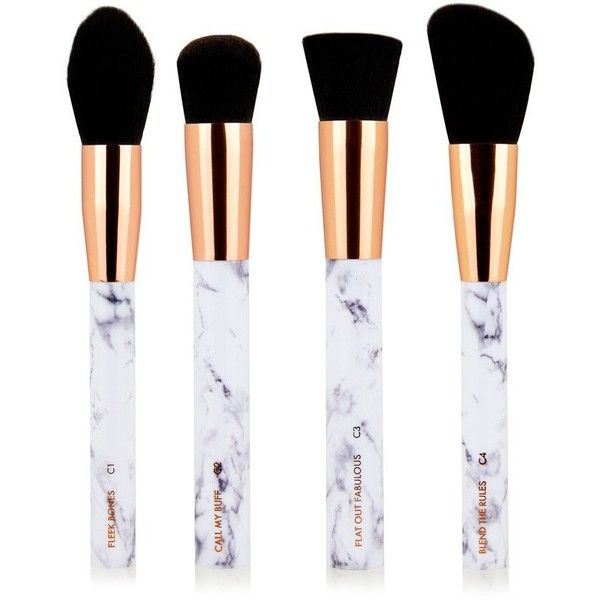 Marble Shut The Contour Brush Set ($35) ❤ liked on Polyvore featuring beauty products, makeup, makeup tools, makeup brushes, slanted makeup brush, contour makeup brush, contour brush, angled contour brush and angled makeup brush