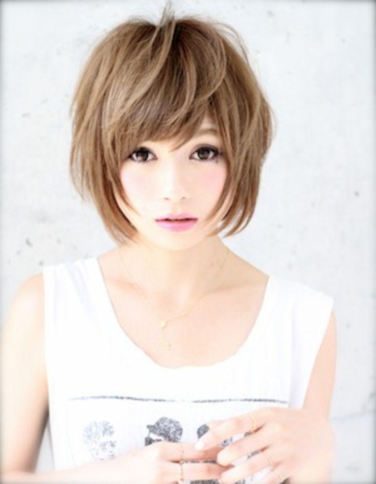小顔ショートヘア(kE-260) | ヘアカタログ・髪型・ヘアスタイル|AFLOAT(アフロート)表参道・銀座・名古屋の美容室・美容院