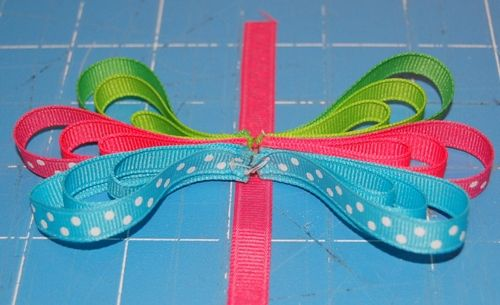 How to Make a Ribbon Butterfly out of Scraps : Hip Girl Boutique LLC, Free Hairbow Instructions, Ribbons, Hair Bows and Clips, Hairbow Hardware and More