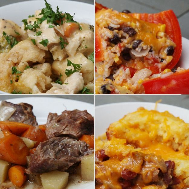 Easy Slow Cooker Dinners 4 Ways