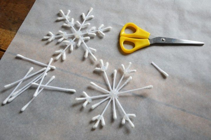{DiY} Flocon-rods for the decoration of the original Christmas tree !!