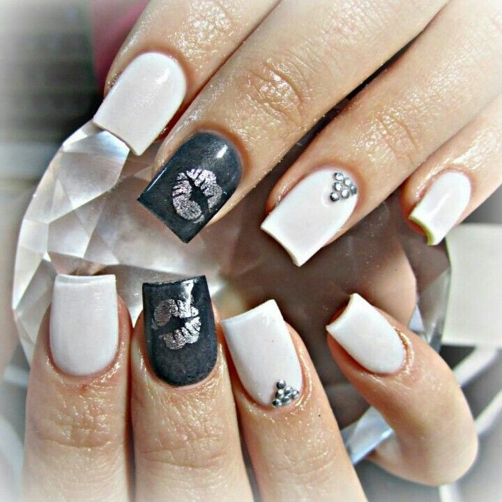 189 best badass nails images on pinterest nail designs make up grey and white acrylic nails prinsesfo Image collections