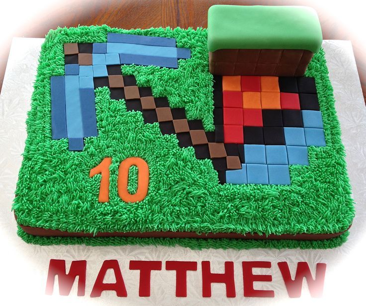 Minecraft Images For Birthday Cake : Minecraft Birthday Cakes Children s Birthday Cakes ...