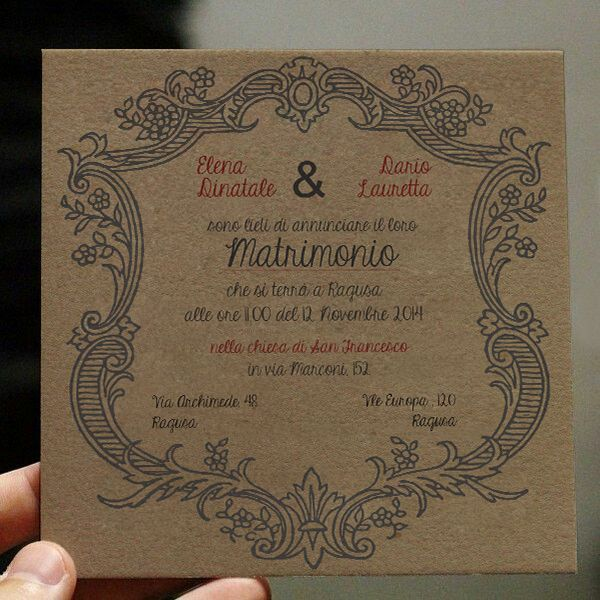 Wedding Invitation - Partecipazioni di Nozze, by Il Laboratorio di Carta, Frame Model, 2014 Collection.