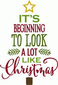 Silhouette Design Store - View Design #70423: it's beginning to look a lot like christmas - tree