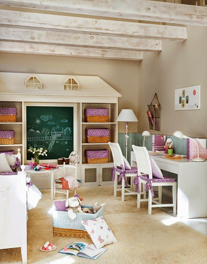 Jurnal de design interior - Amenajări interioare : O frumoasă amenajare în camera unei fete