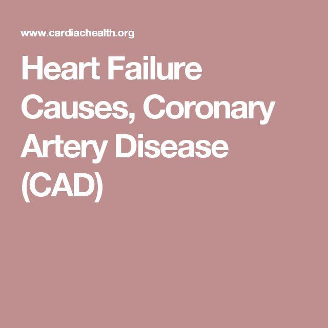 Heart Failure Causes, Coronary Artery Disease (CAD)