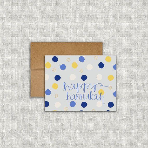 Happy Hannukah Card Chanukkah DIY Printable by SplashOfSilver