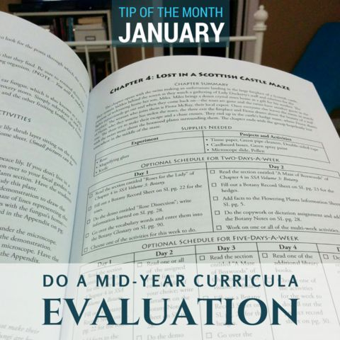 Homeschool Science Tip - Do a mid-year curricula evaluation.