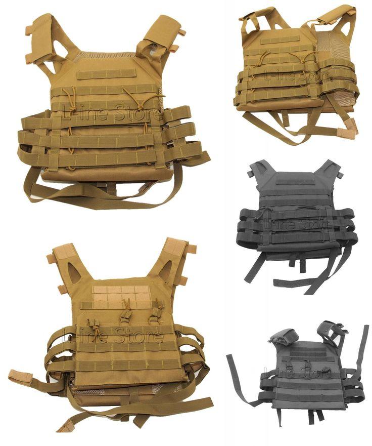 [Visit to Buy] Outdoor Sports Outdoor Military Body Combat Assault Waistcoat Tactical Molle Vest Plate Carrier Vest #Advertisement
