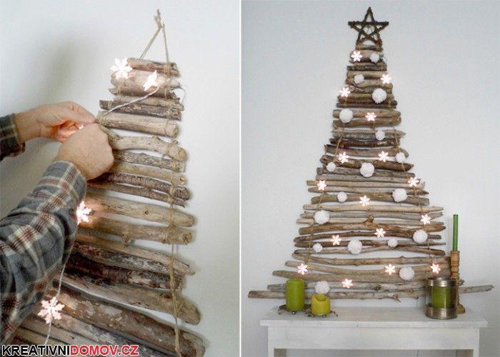 Vánoční dekorace z větviček