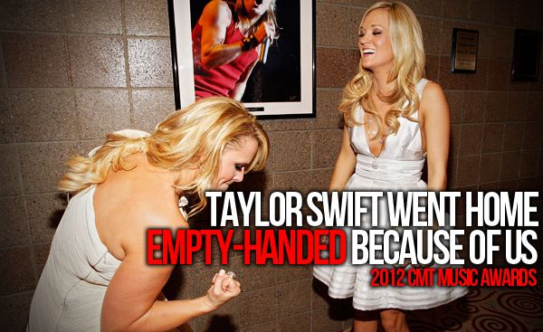 Don't get me wrong, I love Taylor. But the country music awards should go to the true country singers.