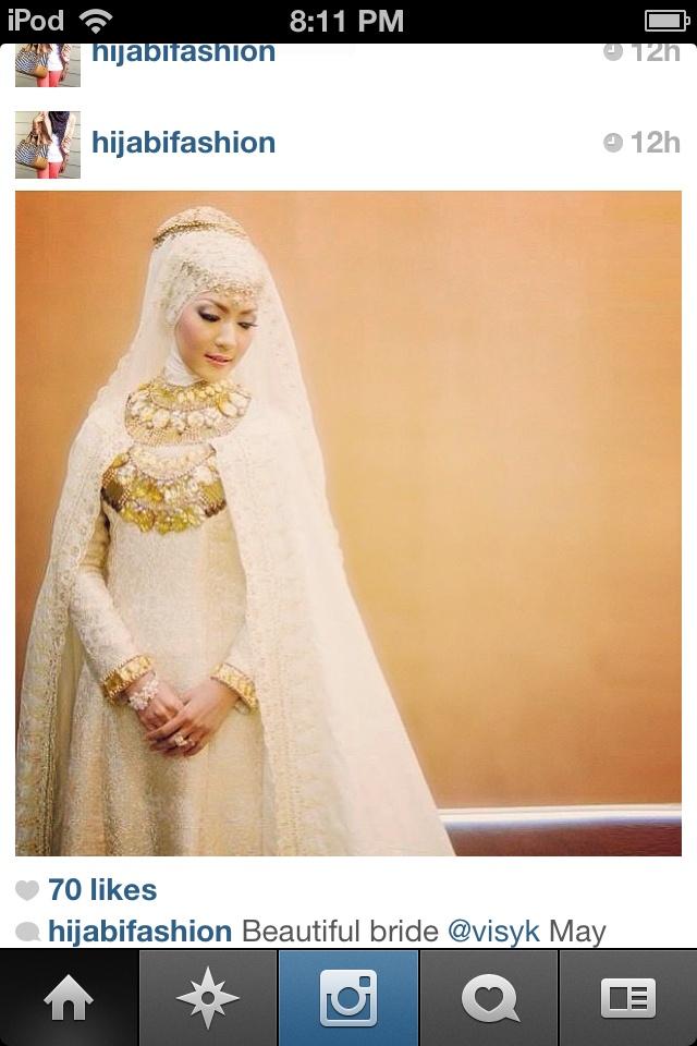 #Muslimah #Wedding #Hijabi cleopatra style :)