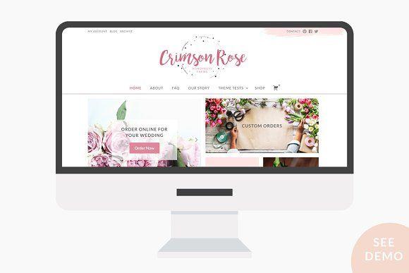 Crimson Rose Wordpress Theme By Web Plant Media On Creativemarket Theme Wordpress Cheatsheet Wordpress Design