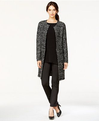 Alfani Bouclé Side-Zip Car Coat, Only at Macy's - Jackets & Blazers - Women - Macy's