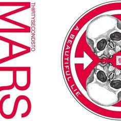 30 Seconds to Mars - A Beautiful Lie artwork, Marcus has this album cover on his bedroom wall. if you like this album download 7 of our songs for free at http://www.firstbornofficial.com/pinterestfreemusic