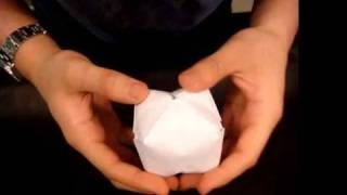 How to Make a Paper Balloon (Water Bomb) - Origami, via YouTube. Kinda fun and a good kid craft.