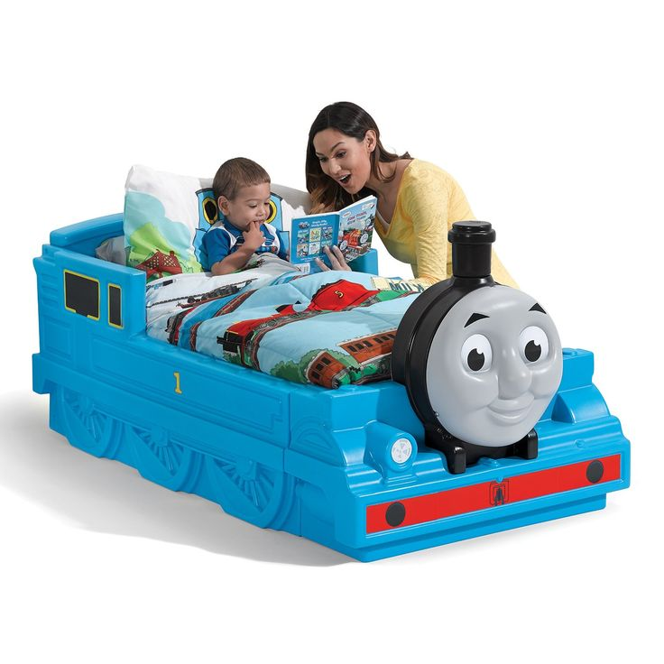 When Your Little One Runs Out Of Steam They Can Travel To Dreamland In The Thomas Tank Engine Toddler Bed By This Train Promotes Make Believe Fun