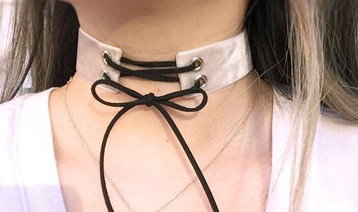 Suede Choker,lace up choker,tie up choker,string choker,shoelace choker,double sided choker,christmas gift,thick choker,90s style,modern,art by baublesbybets on Etsy https://www.etsy.com/listing/290761217/suede-chokerlace-up-chokertie-up