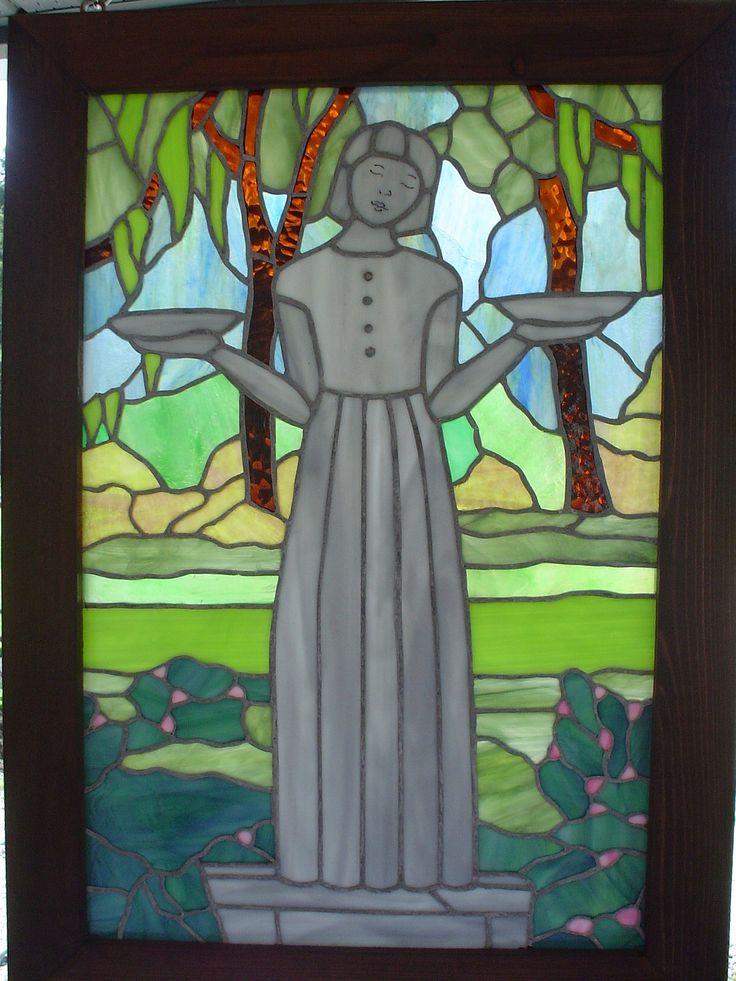 https://flic.kr/p/o8r76L   statue midnight garden   stained glass