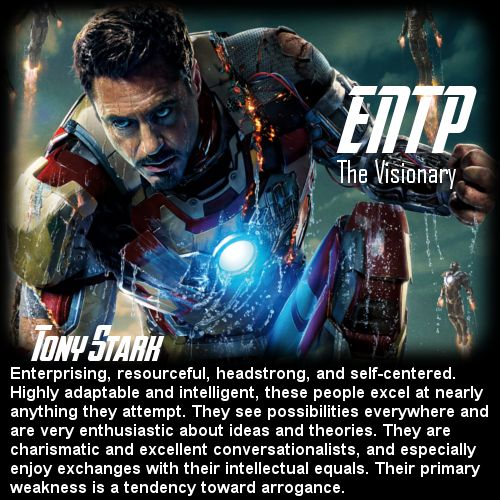 Behind the Mask: The Avengers Personality Chart - Tony Stark [ENTP]