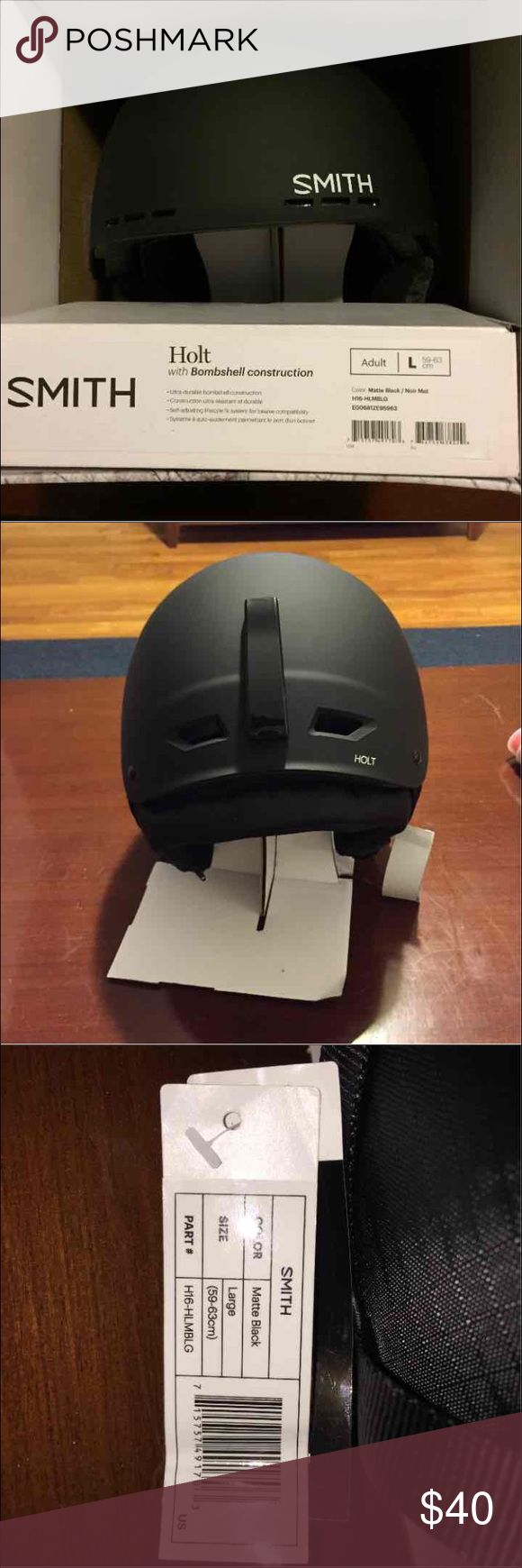 Smith Holt Ski/Snowboard Helmet Brand new unused ski/snowboarding helmet. New with tags, in box. Unisex. Smith Other