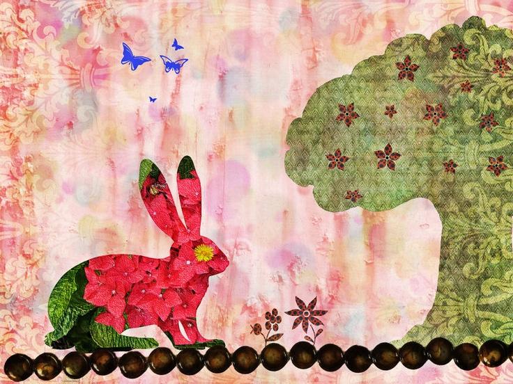 Bunny Rabbit Art Print. €12,00, via Etsy.