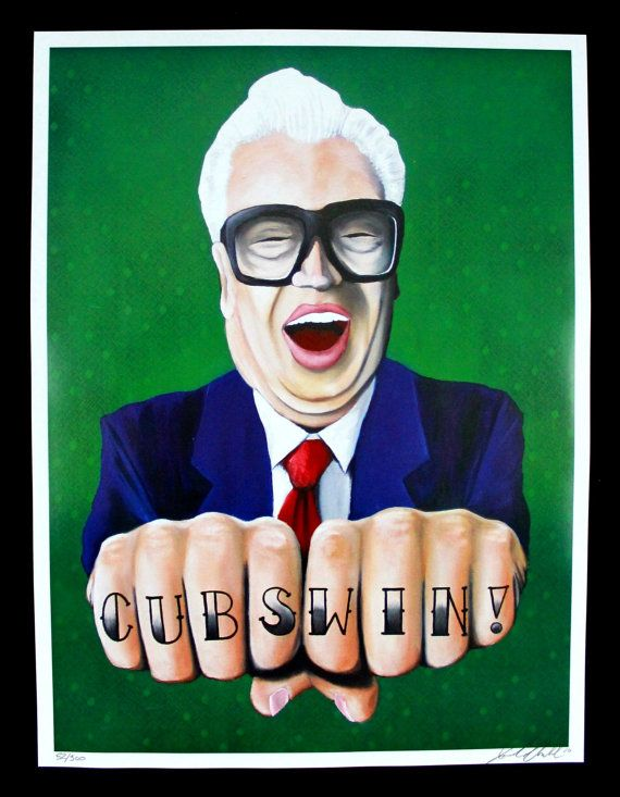 chicago cubs Harry Caray limited edition signed by jaredaubel, $65.00