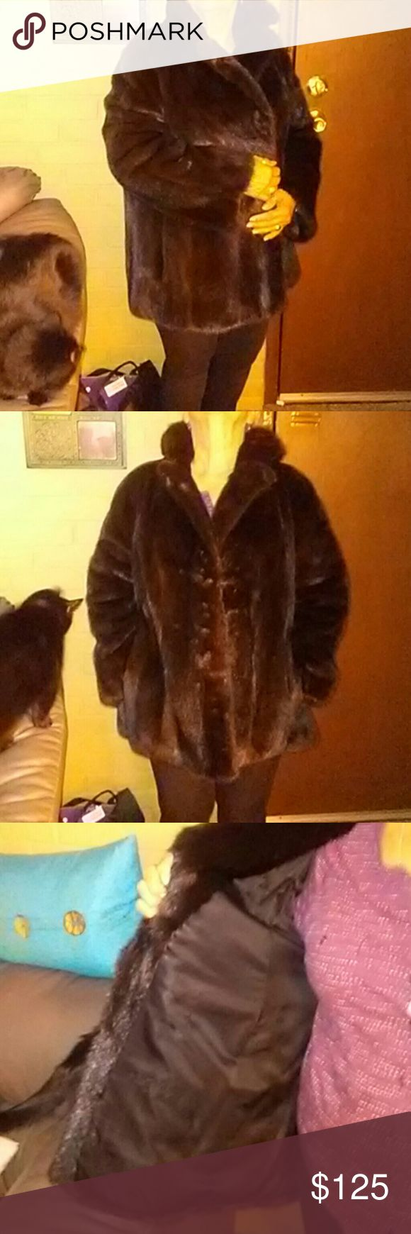 Genuine Kotsovos Mink Coat This is the real deal. Beautiful Brown Mink Coat. Kotsovos is a high end boutique in Cincinnati. This is a Med. Message me with any questions. This is a steal and wont last long! Price is negotiable Jackets & Coats